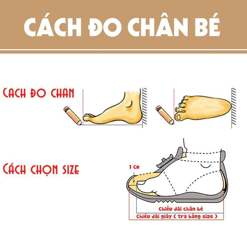 cách đo size giày trẻ em