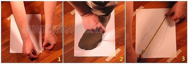 cách đo size giày nữ