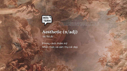 Aesthetic có nghĩa là thẩm mỹ
