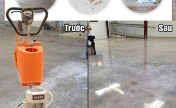 Sử dụng máy giúp sàn bê tông bóng đẹp hơn