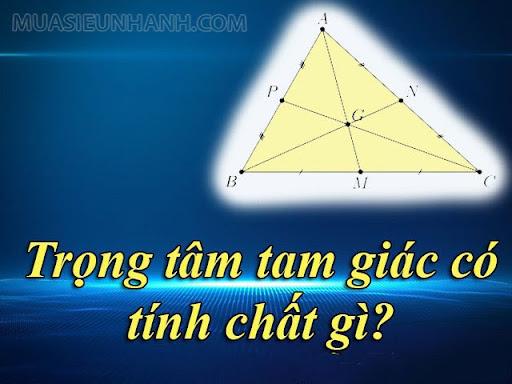 Tính chất trọng tâm tam giác có những gì?