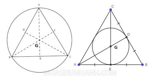 Trọng tâm tam giác đều